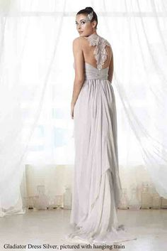 Gladiator silver dress.