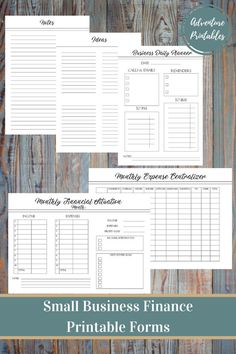 Small business finance printable planner pack --------------------------------------------------------------------------------------------------------- this Small Business Bookkeeping, Small Business Accounting, Small Business Start Up, Business Marketing, Media Marketing, Business Entrepreneur, Business Logo, Business Planner, Business Ideas