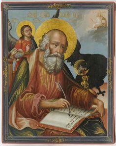 Горшков Петр Святой Иоанн Богослов. 1784 г. Дерево, левкас, темпера