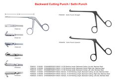 www.gescoworld.com/ent-ear-instruments.php - Two types of backbiting forceps are available. One is STAMMBERGER Backbiting Punch up cutting, Cutting to Left and Cutting to Right. The other type is designed by Dr. Sethi called the Sethi Backbiting punch Black finish.