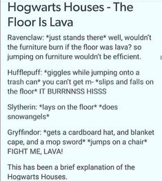 Am I Hufflepuff? Am I Slytherin? (I am actually a Hufflepuff tho) Harry Potter Puns, Harry Potter Universal, Harry Potter World, The Floor Is Lava, No Muggles, Dc Memes, Fandoms, Hogwarts Houses, Drarry