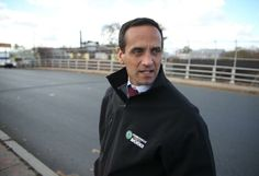Somerville Mayor Joseph A. Curtatone stood near the project site. Somerville will see an expansion of the Green Line.