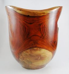 Wood Vase No.130635  Cocobolo Natural Edge by conreysa on Etsy, $160.00