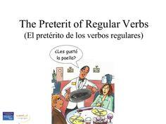 preterit-of-regular-verbs-presentation by Margaret Wright via Slideshare