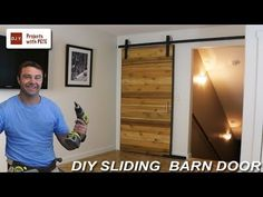 (42) How to Make a Sliding Barn Door - YouTube