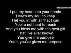 Justin Bieber - Purpose (PURPOSE : The Movement) (lyrics)
