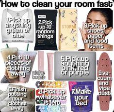 Room Cleaning Tips, Cleaning Hacks, Bedroom Cleaning, Cute Room Ideas, Cute Room Decor, Clean Bedroom, Room Ideas Bedroom, Teen Life Hacks, Useful Life Hacks