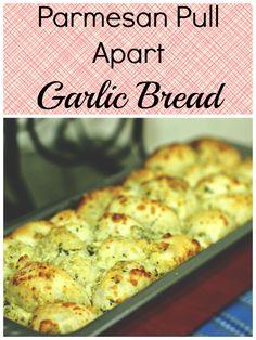 Parmesan Pull Apart Garlic Bread