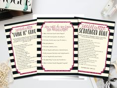 Printable bachelorette games bundle by PrettyPrintablesInk on Etsy. Available immediately for downloading!