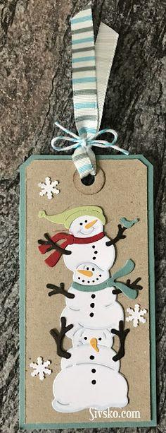 Selvom er nået hen over Juleaften - har jeg da lidt flere til og fra kort jeg godt vil vise Her er et med en snemands die (lånt af Ann) fra...