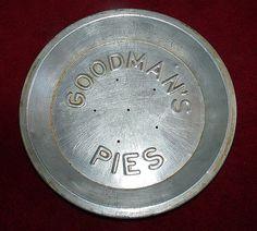 Goodman's Vintage Pie Tin 9 1/2 inch advertising by ARTicklesME, $15.95