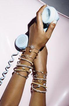 love these skinny crystal bracelets!