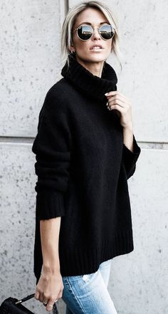 Fashionable Oversized Sweater for Winter Outfits 2018 - hairstyles 19