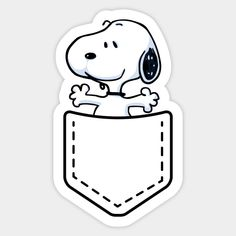 Snoopy in my pocket - Pocket Snoopy - Sticker Cartoon Stickers, Kawaii Stickers, Cool Stickers, Printable Stickers, Laptop Stickers, Planner Stickers, Snoopy Wallpaper, Homemade Stickers, Bubble Stickers