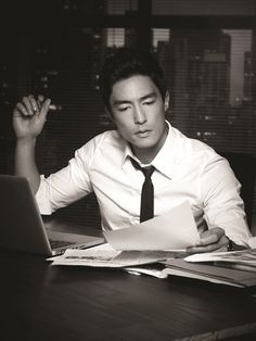 Daniel Henney. Knock!knock!knock! reality where on earth can I even find a hot executive :3