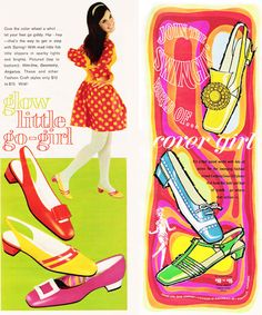 March 1968 shoe ad from Seventeen magazine