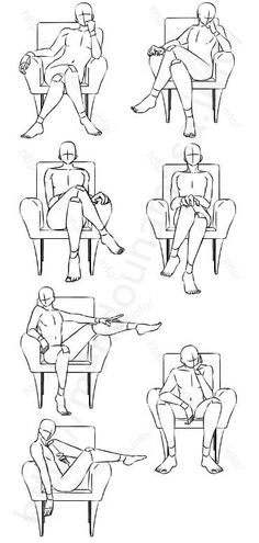 Learn how to incresase your knowledge sketches chair poses chairs sitting seat Drawing Lessons, Drawing Techniques, Drawing Tips, Drawing Sketches, Art Drawings, Sketching, Body Drawing, Drawing Base, Anatomy Drawing