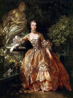 Madame Pompadour by Boucher. Also know as Jeanne Antoinette Poisson, Marquise de Pompadour. Official mistress of Louis XV of France. Madame Pompadour, Pompadour Style, Marie Antoinette, Fashion Bubbles, Rococo Fashion, 1500s Fashion, 18th Century Fashion, 17th Century, Fashion History