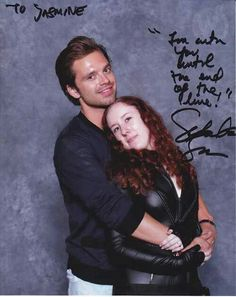 Sebastian Stan with a fan at Wizard World Comic Con 2014