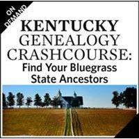 Kentucky Genealogy Crash Course Webinar   ShopFamilyTree