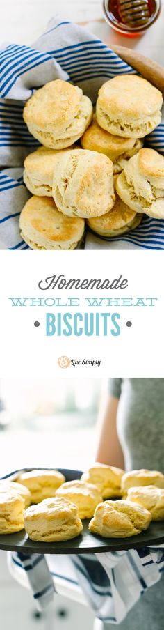 The BEST (whole wheat) biscuits! True southern-style biscuits made with 100% whole grains. So good! Plus, you can freeze the dough in advance and bake as needed--so smart!