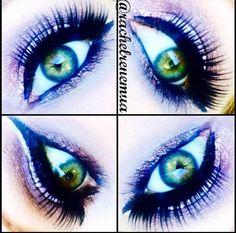 Maquiagem feita pela makeup artist americana @rachelrenemua usando o Mechanical Pencil Eye Black