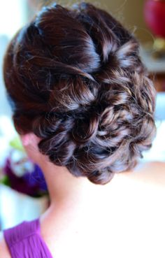Gorgeous braided updo | Green Valley Photography