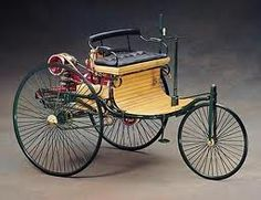 """Benz's """"motorwagon"""", first designed in 1885, went on sale to the general public a few years later. He built 25 models in the first 5 years, and his wife is credited with making the first road trip."""
