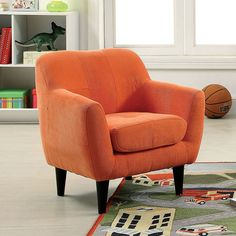 Heidi Orange Kids Chair - CM6002OR Description : Add exciting splashes of color to your home with this modernized youth arm chair. The warm flannelette upholstery wraps along the entire frame structur