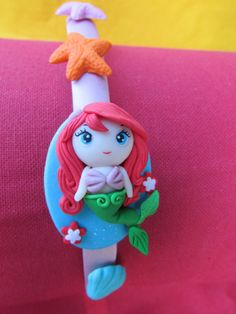 The Little Mermaid in Polymer Clay sweet pink Hairband