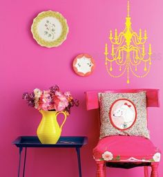 Chic Chandelier Vinyl Wall Decal - now your princess can rearrange her room any time she wishes