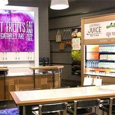 """Primera tienda de zumos """"Evolution Fresh"""" de Starbucks en Bellevue, Washington (vía Marketing Directo)"""