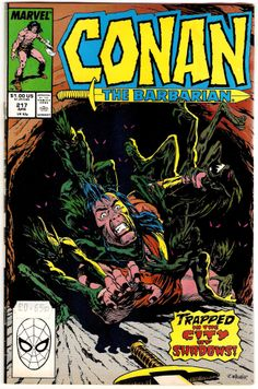 Conan The Barbarian. Vol. 1. No. 217. U.S. Marvel comics. Apr. 1989.