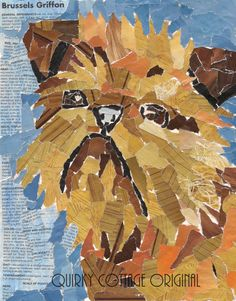 Brussels Griffon Mosaic Collage Pet Portrait. Brussels Griffon dog art portraits, photographs, information and just plain fun. Also see how artist Kline draws his dog art from only words at drawDOGS.com http://drawdogs.com/product/dog-art/brussels-griffon-dog-portrait-by-stephen-kline/
