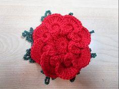 flor em crochê copinho - YouTube