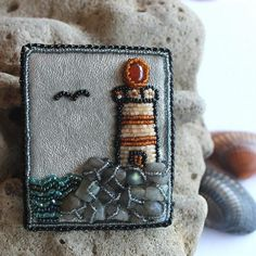 #Lighthouse #Bead_brooch #embroidered_brooch #Beaded_jewelry #Brooch_handmade #Gift_beaded #Women_brooch