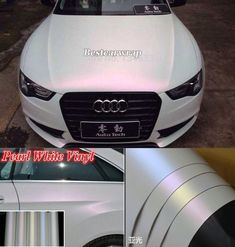 Sell Full Roll - Matte Pearl White Chameleon Vinyl Car Wrap Sticker Decal Air Free motorcycle in ...