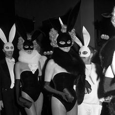 the white bunny mask—I NEED!! (From the W archive;1975)