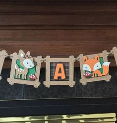 Customized fox deer woodland animal forest themed baby or Happy Birthday banner decoration, woodland critters decoration, woodland theme baby name banner, customized baby banner woodland animals theme. Fox, Deer, owl, bunny, squirrel, with red and white mushrooms.woodland Woodland Animals Theme, Woodland Critters, Baby Shower Parties, Baby Shower Themes, Dyi Decorations, Baby Name Banners, Wild One Birthday Party, Hamster, Animal Decor