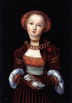 CRANACH, Lucas the Elder Generalised Portrait of a Woman c. 1525 Oil and tempera on red beechwood, 38 x 27 cm National Gallery, London