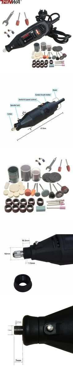 CRAZY POWER Mini Drill Dremel Style Electric Rotary Tool Engrave Grinder Variable Speed With 111pcs Accessories DIY Kits
