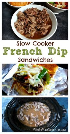 French Dip Sandwiches get a healthy makeover with extra veggies and a ...