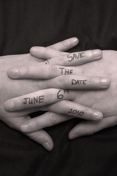 What a unique idea for save the dates.