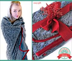 Cuddle & Velveteen Throw: made with Embossed Vine Cuddle http://www.shannonfabrics.com/index.php?main_page=advanced_search_result&search_in_description=1&keyword=vine+cuddle Deck The Halls with Fabric.com @fabricdotcom  | Sew4Home @sew4home