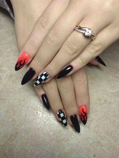 Friendly Dog Breeds, Manicures, Nails, Nail Inspo, Coffin, Nail Ideas, Almond, Nail Designs, Nail Art