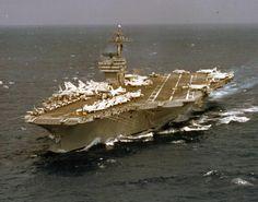 The carrier John F. Kennedy (CVA 67) pictured underway in 1969