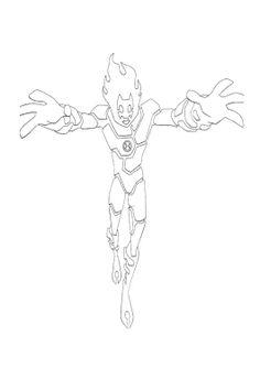 Ben Ten Is A Long Arm Cast Coloring Page