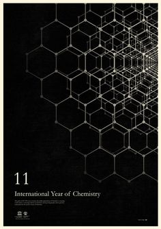 International Year of Chemistry-Graphic designer and illustrator Simon C. Page produced a series of beautiful posters inspired by chemists and their contributions to humankind - I feel like my hours spent on chemistry require me to like this. Graphisches Design, Layout Design, Print Design, Logo Design, Design Ideas, Graphic Design Pattern, Design Elements, Design Graphique, Art Graphique