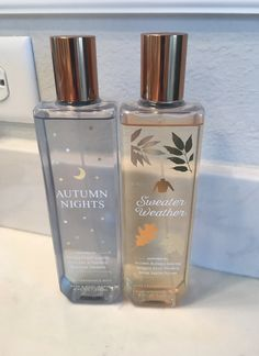 Bath and Body work. Autumn Nights and Sweater Weather Body spray only used a handful of times. Bath And Body Works Perfume, Bath N Body Works, Perfume And Cologne, Perfume Bottles, Victoria Secret Fragrances, Homemade Skin Care, Skin Food, Body Spray, Beauty Care