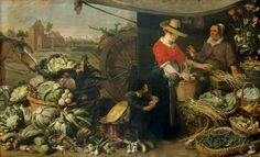 Not Italian, but I love the jackets Frans Snyders (Dutch artist, 1579-1657) The Fruit Stall